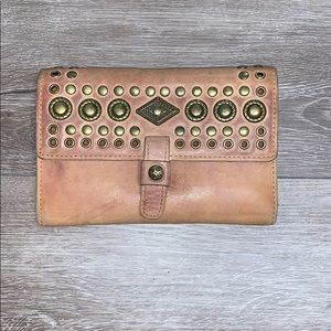Patricia Nash Italian Leather Wallet Clutch Brown